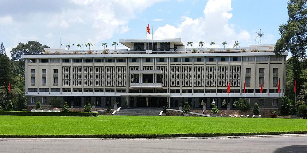 ベトナム・ホーチミン市。統一会堂
