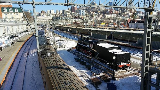 ロシア・ウラジオストク シベリア鉄道の線路