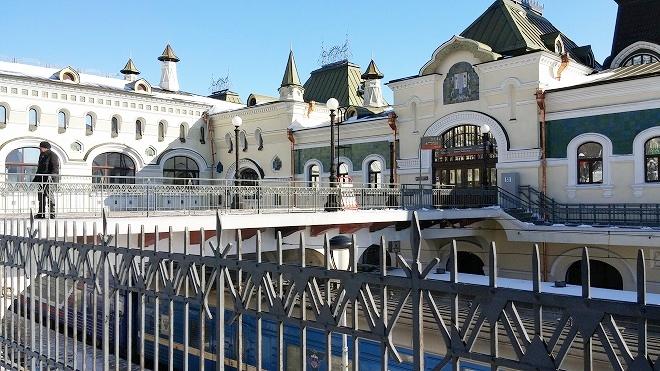 ロシア。シベリア鉄道・ウラジオストク駅