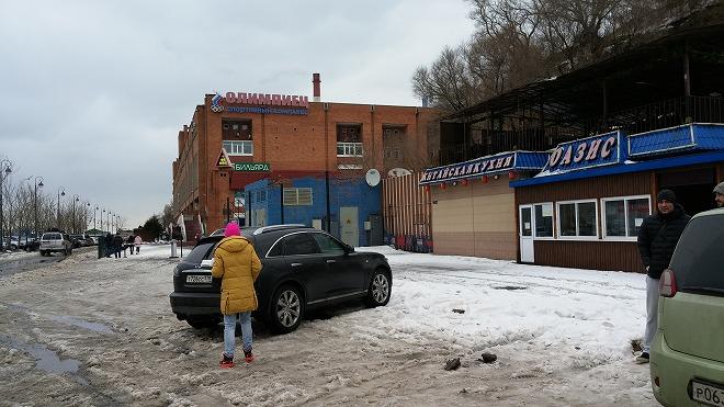 ロシア。ウラジオストク。バタレイナヤ通り。