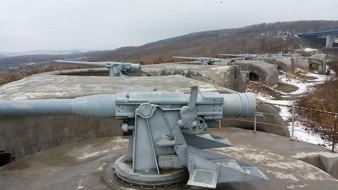 ロシア・ウラジオストク。ルースキー島の砲台