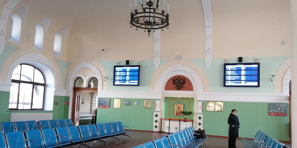 シベリア鉄道・ウラジオストク駅 待合室
