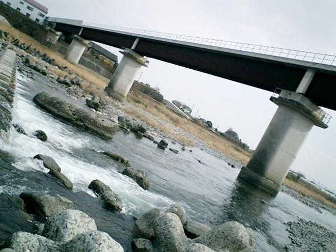 高知県南国市 一級河川「物部川」