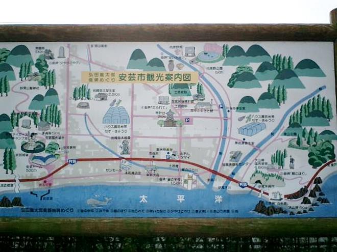 高知県安芸市観光案内図