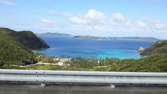 渡嘉敷島 山から見た「渡嘉志久の部落」