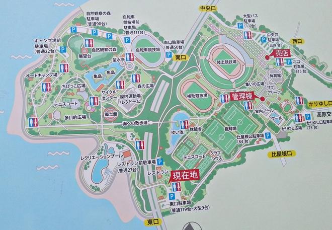 沖縄県総合運動公園の地図