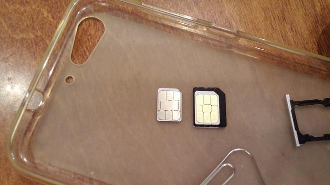 SIMの入れ替え。