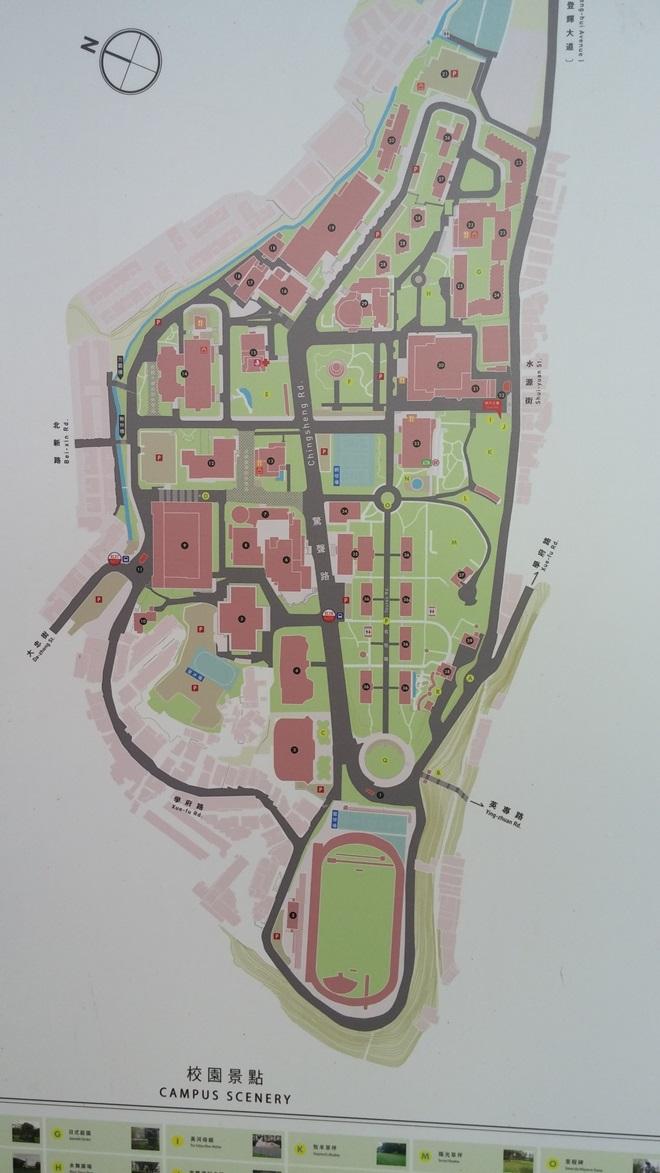 台湾 淡江大学 淡水キャンパスの地図