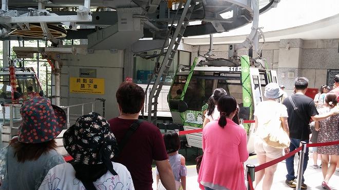 台湾 猫空ロープウェイ 動物園駅 のりば