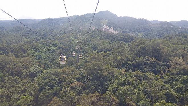 台湾 猫空ロープウェイからの景色