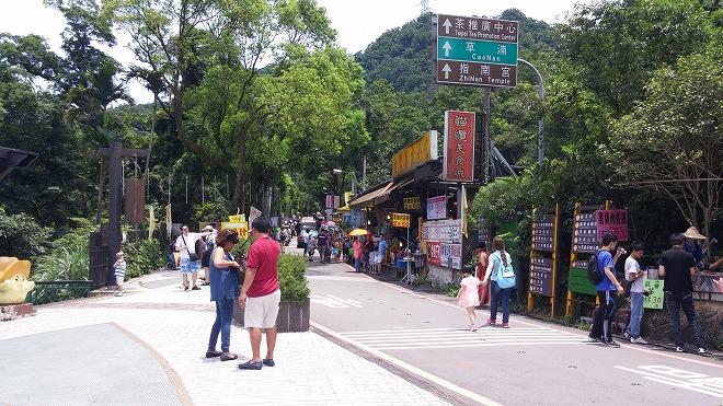 台湾 猫空ロープウェイ 猫空駅の駅前