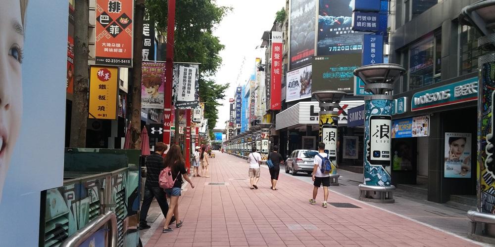台湾・西門。
