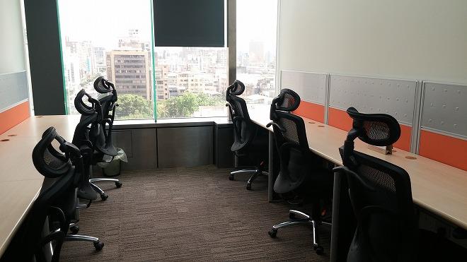 台湾・台北市。レンタルオフィス