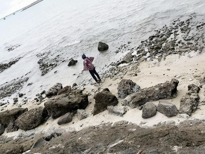 豊見城市 瀬長島ウミカジテラス前の浜