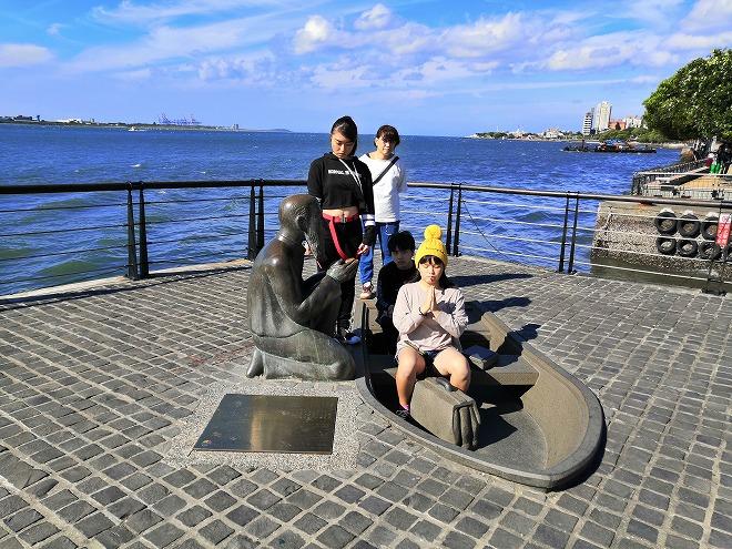 台湾 淡水 マッカイ(馬偕)先生上陸の碑
