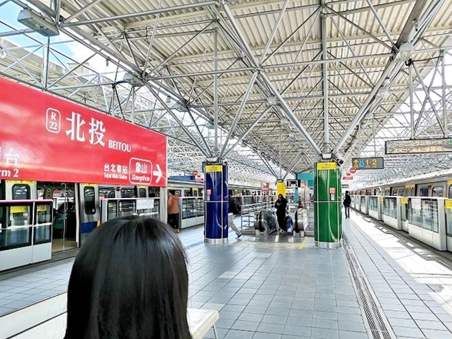 台湾 MRT北投駅 プラットフォーム