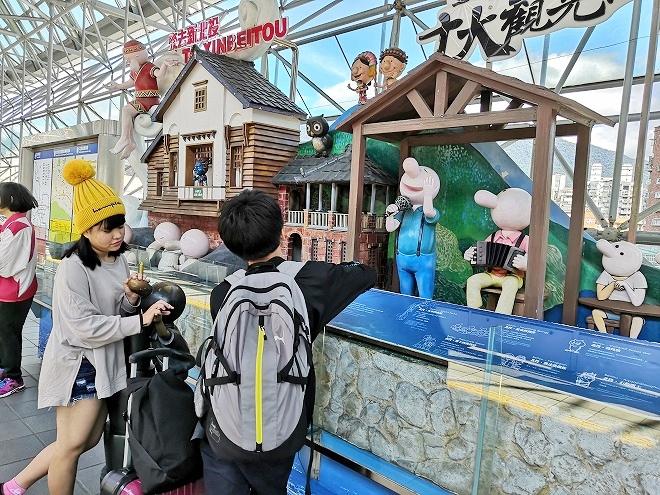 台湾 MRT北投駅 プラットフォームのオブジェ