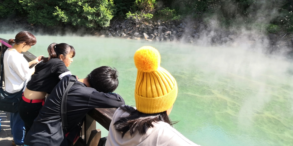 台湾 台北市 温泉の街 新北投 地熱谷…別名「地獄谷」「鬼の湖」
