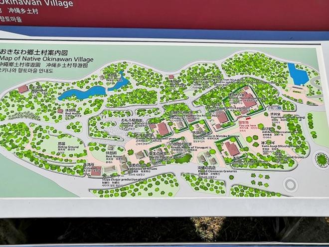 沖縄海洋博公園・おきなわ郷土村 地図