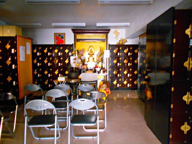 臨済宗妙心寺派 首里 盛光寺 納骨堂の奥のお釈迦様のご尊像