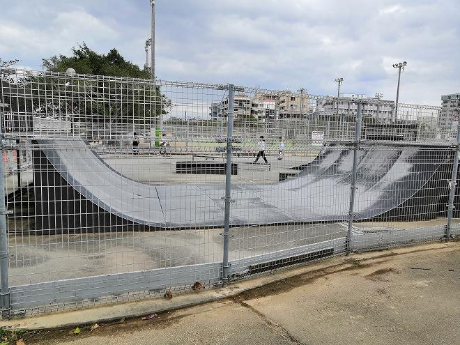 那覇新都心公園 スケボー用「スケートパーク」