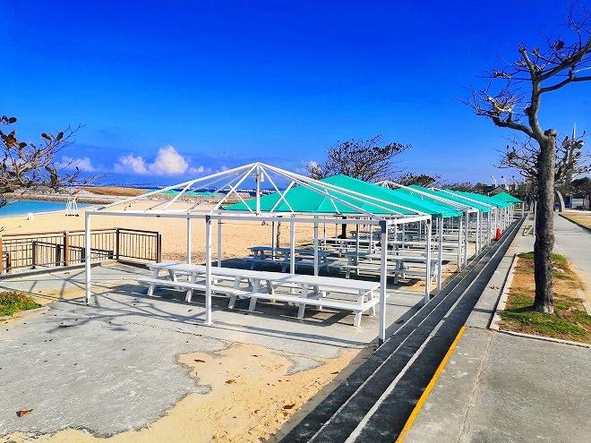 宜野湾トロピカルビーチ ビーチパーティ 貸しテント