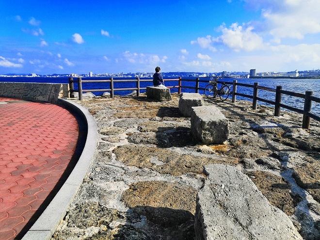 宜野湾 トロピカルビーチ出島 読谷側、北東の海