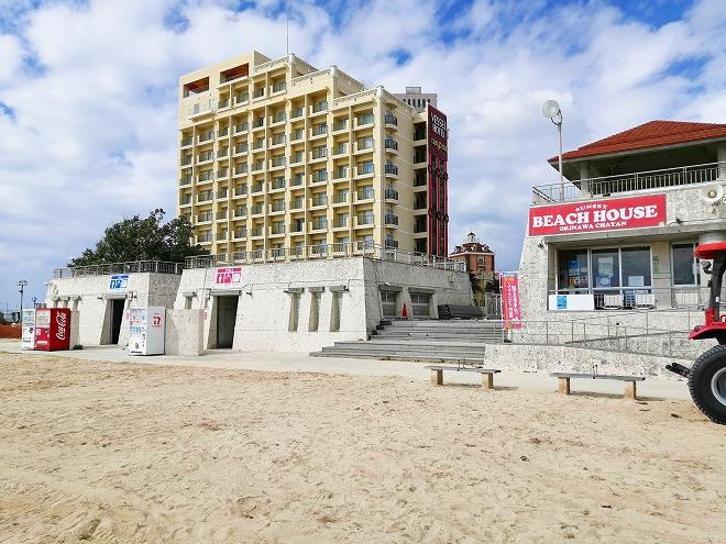 北谷サンセットビーチのビーチハウス