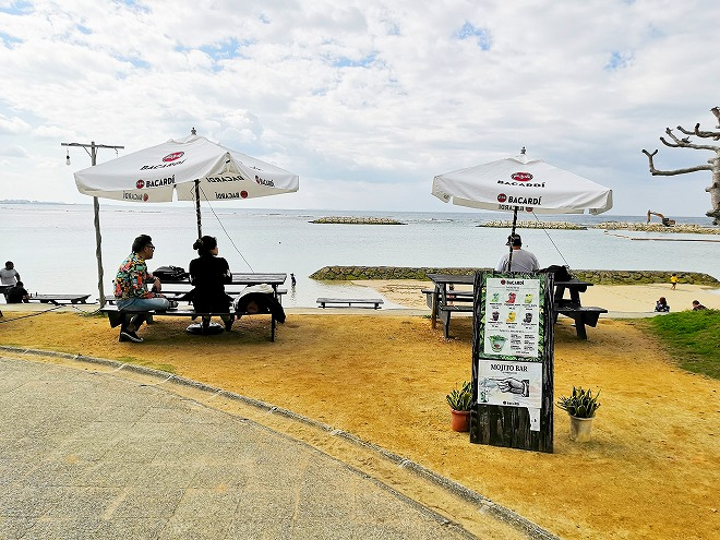 北谷サンセットビーチの外国人客