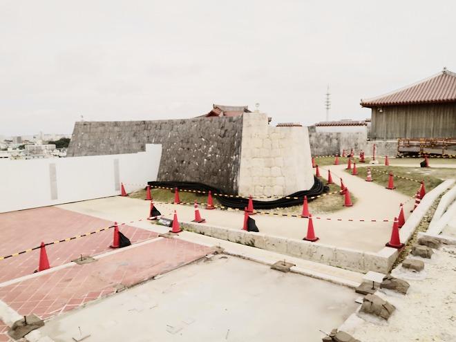 那覇 首里城 琉球王国の儀式や行事が行われていた 「御庭(うなー)」跡