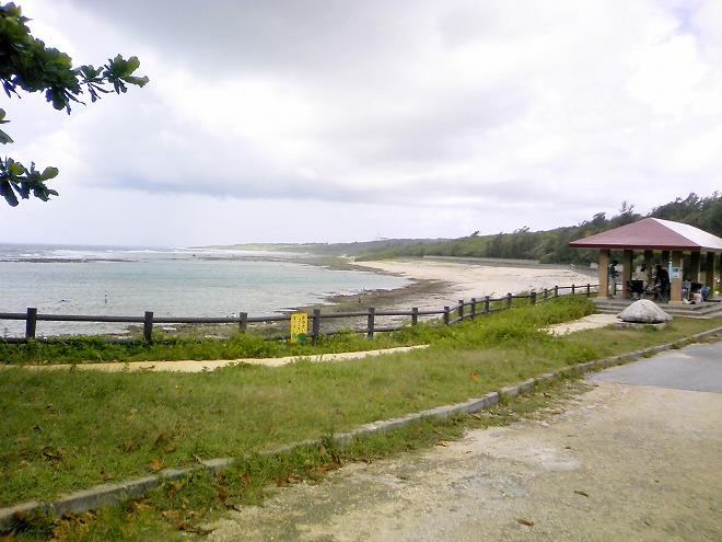 糸満市ジョン万ビーチ(大度浜海岸)ビーチ全景