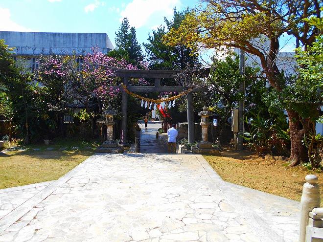 那覇 琉球八社 識名宮の境内