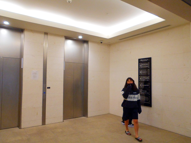 カフーナ旭橋A街区・オフィス街へのエレベーター・ホール