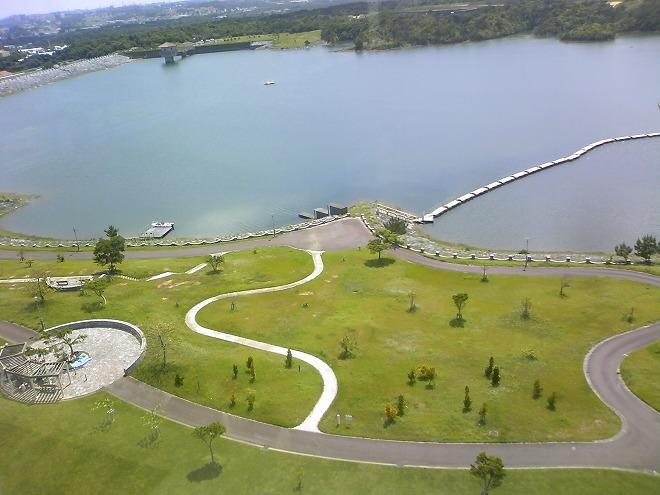沖縄県 うるま市 倉敷ダム公園からの景色