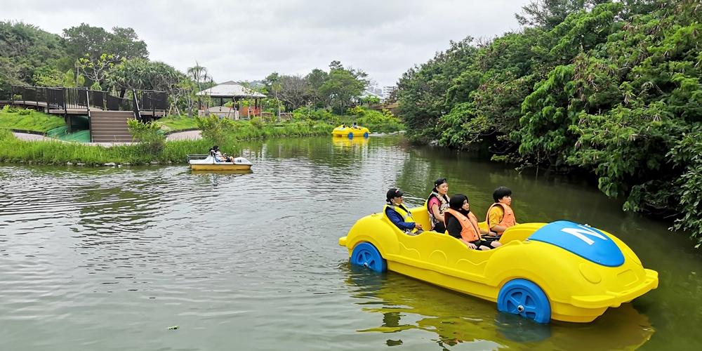沖縄県総合運動公園・望水亭・ボート遊び