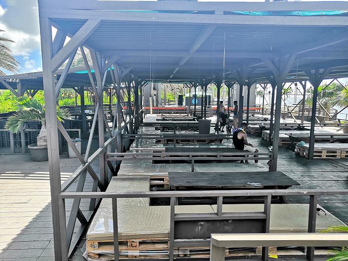 那覇ビーチリゾート「コージー ビーチ クラブ」のボックスシート