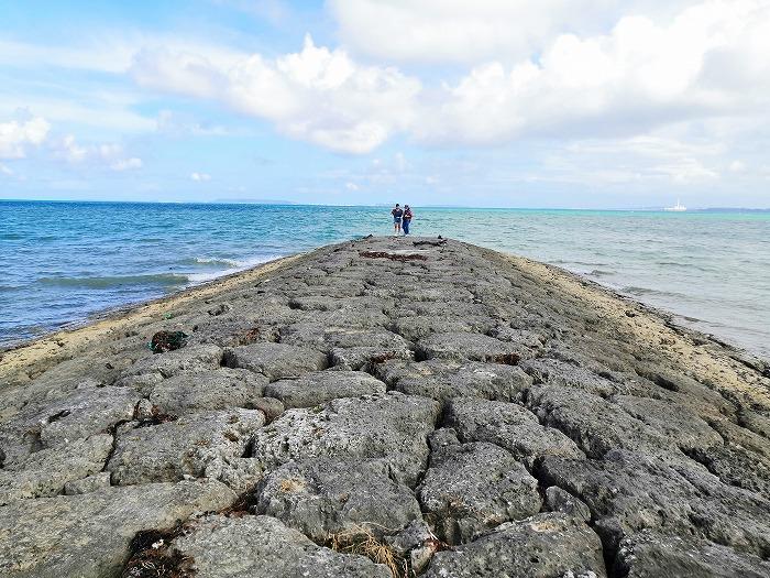 金武町 屋嘉ビーチの一番目の突堤