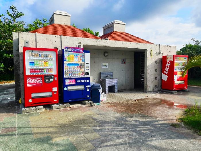 沖縄県金武町 伊芸海浜公園の西広場側駐車場のトイレ