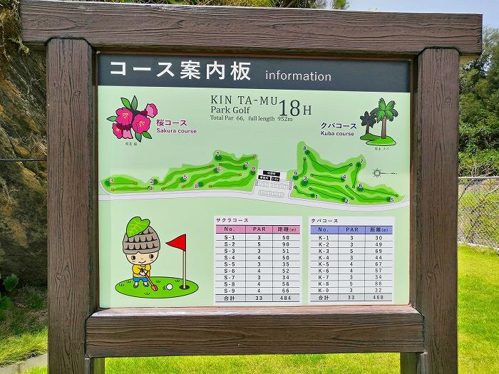 沖縄県金武町 金武タームパークゴルフ場「コース案内版」