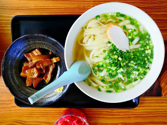 沖縄県金武町 並松そば ワケあり三枚肉そば 特大 770円 平麺