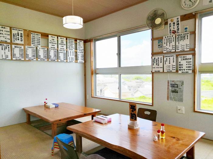 沖縄県金武町 並松そば 閉店前の座敷席