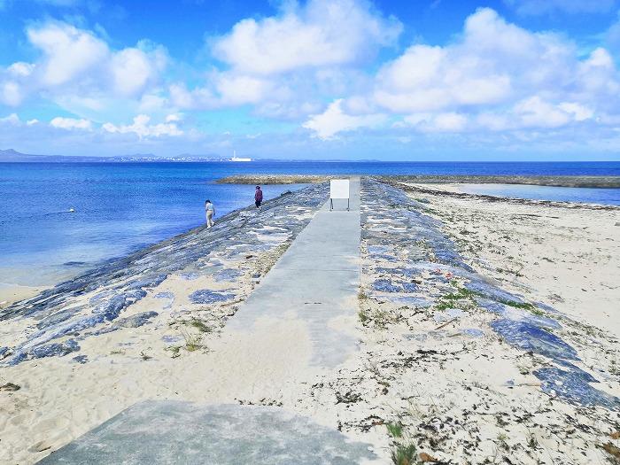 沖縄県うるま市 宇堅ビーチの離岸堤