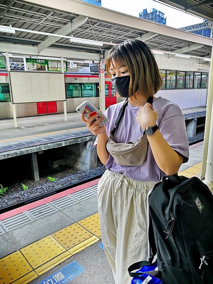 京成成田駅 成田空港行きのプラットフォーム