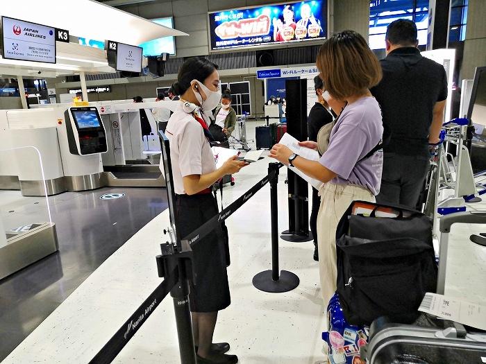成田国際空港 第2ターミナル JAL預け手荷物カウンター